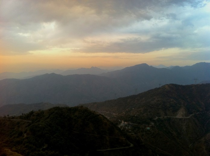 Sky over the Himalayas, close to Rishikesh, India