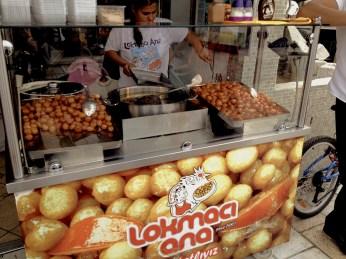 Lokmaci - traditional doughnuts with sugar syrup
