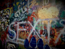 Peaceful Prague: John Lennon's wall.