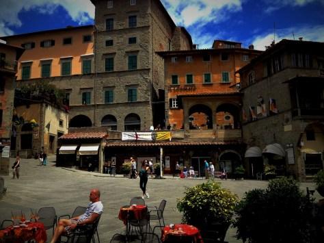 Me in Cortona's main square