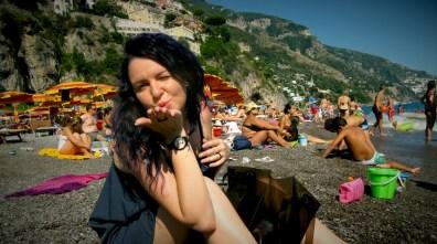 Kisses from Positano beach