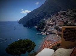 Panoramic views of Positano
