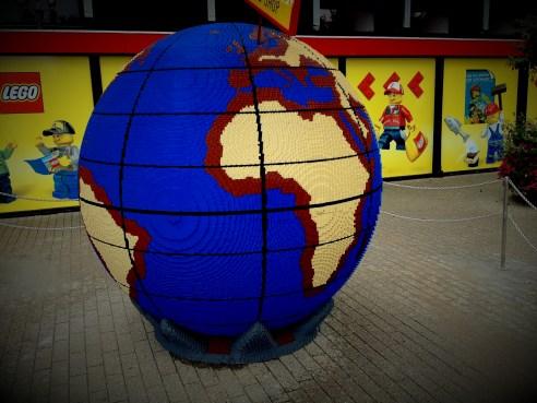 Lego globe in Danish Legoland