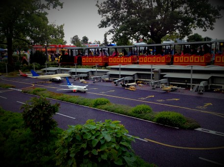 Miniature airport in Legoland. By the way, it is not a static one, because all the figures are always in the movement