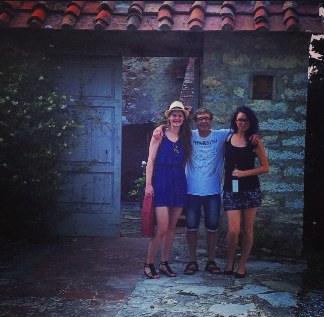"A photo with Paolo, the owner of ""Caparsa"" winery"
