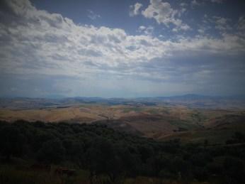 Landscape of Basilicata region from Craco