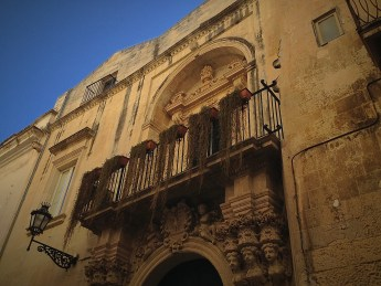 Yellowish walls of Lecce