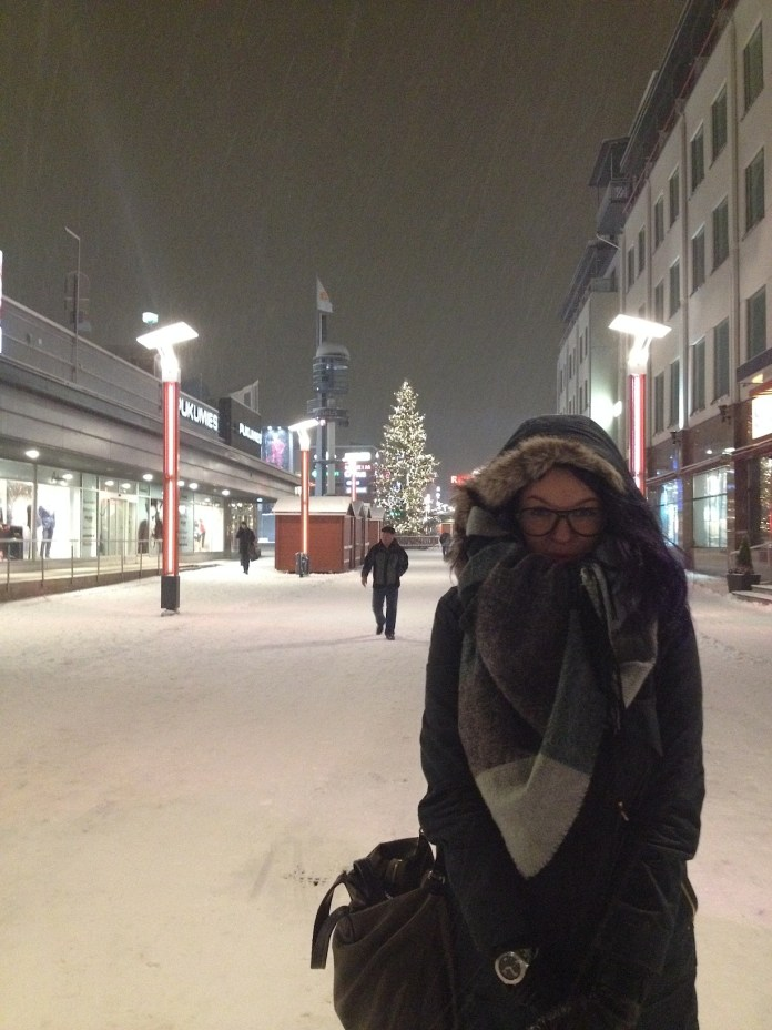 Me in Rovaniemi city center, which in last seven years didn't change at all...