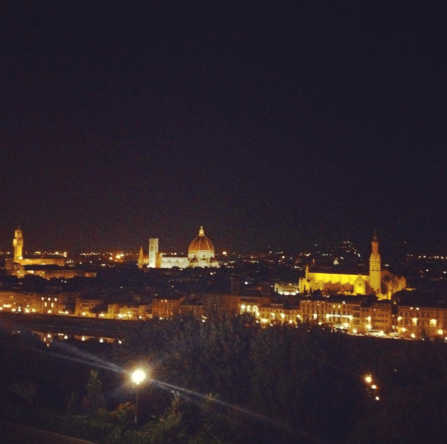 Night views of Florence from Piazzale Michelangelo