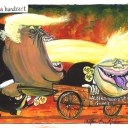 Hell. In a Handcart by Martin Rowson