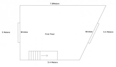 Ladywell Gallery - 1st floor plan