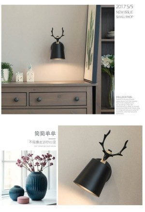 wall lamp sconce led bedside warm simple deer living modern background aisle lights creative head