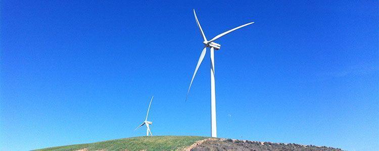 Molino de producción de energía eólica