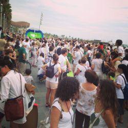 Multitudes en Marcha de los pueblos. Barcelona