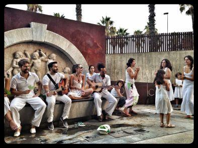 Voluntarios-marcha-global-medioambiente-barcelona copia