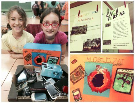 Campaña de recogida de móviles en la escuela de mis hijas