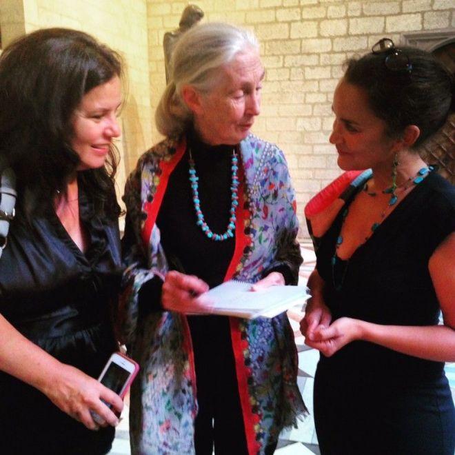 Yve Ramírez y Jane Goodall