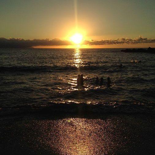 Atardecer sobre el mar. Tenerife