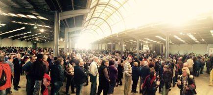 Comida popular y multitudinaria en Amposta después de la marcha por el Delta de l'ebre