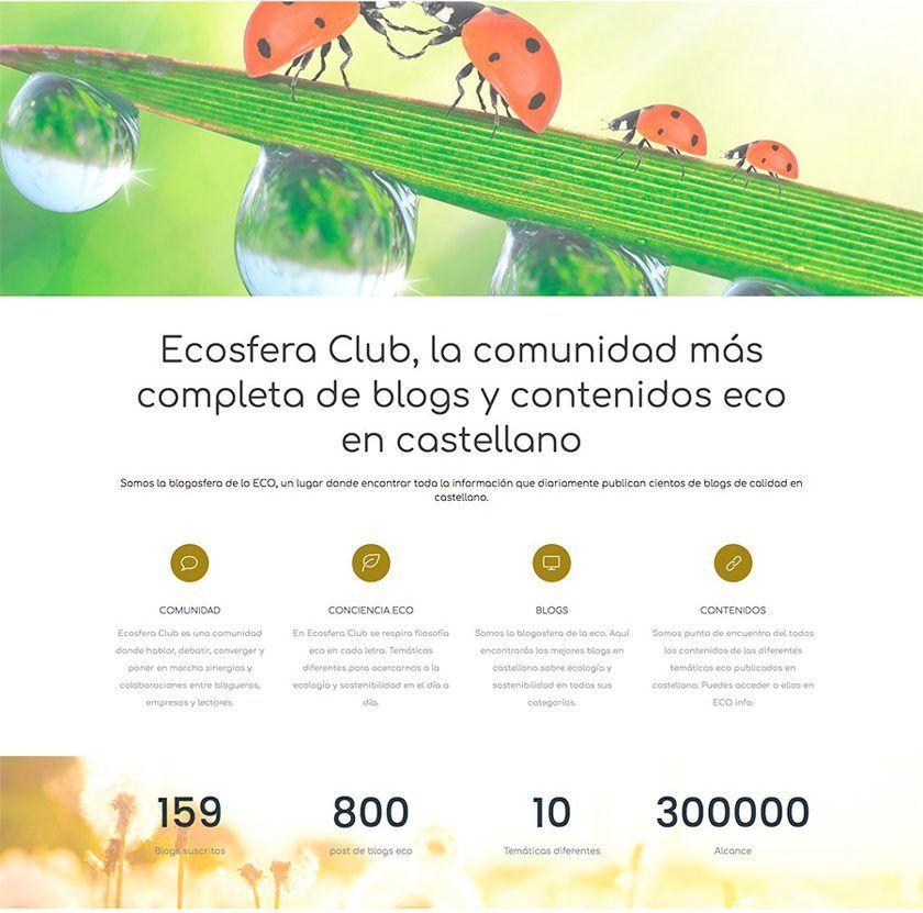 Ecosfera, comunidad de blogs de sostenibilidad y vida sana
