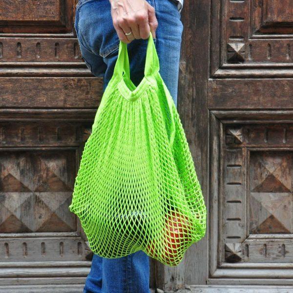 bolsa de malla de algodón orgánico para frutas y verduras