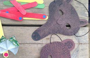 qué poner dentro de una piñata sostenible: máscaras de papel