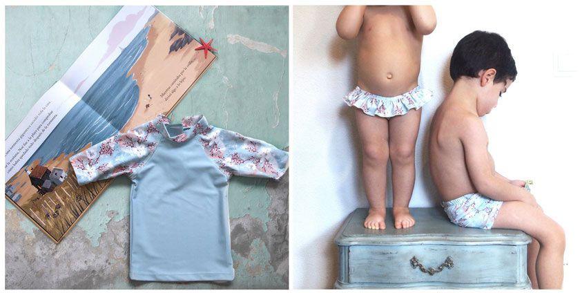 """La nueva colección infantil, también con el estampado """"erizo""""."""