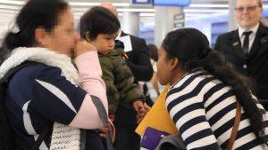 Separación de familias en la frontera
