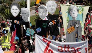 Videos: Entre protestas inicia la Cumbre del G7 en Francia, amenazada por las graves discrepancias