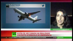 Videos: Aterriza con éxito en Madrid el avión en emergencia de Air Canada con 130 personas a bordo; tenía daños en uno de  los motores y en una de sus ruedas