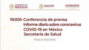 #EnVivo: Reporte sobre COVID-19 en México. 1 de junio