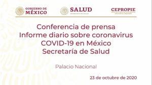 #EnVivo: Reporte diario sobre COVID-19 en México. 23 de octubre