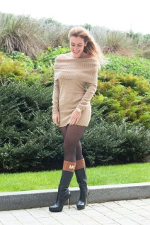 ZLATINA BROWN DRESS-2