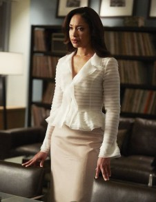 """SUITS -- """"Exposure"""" Episode 408 -- Pictured: Gina Torres as Jessica Pearson -- (Photo by: Shane Mahood/USA Network)"""