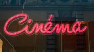Enseigne lumineuse rétro Cinéma