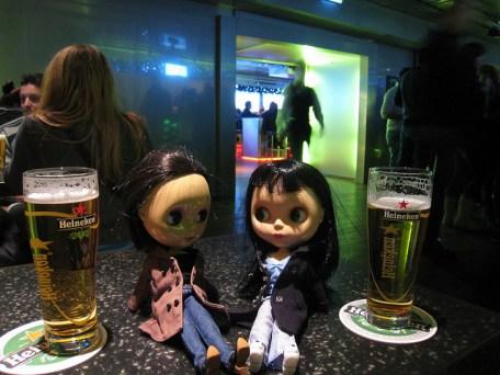 Dolls in bar