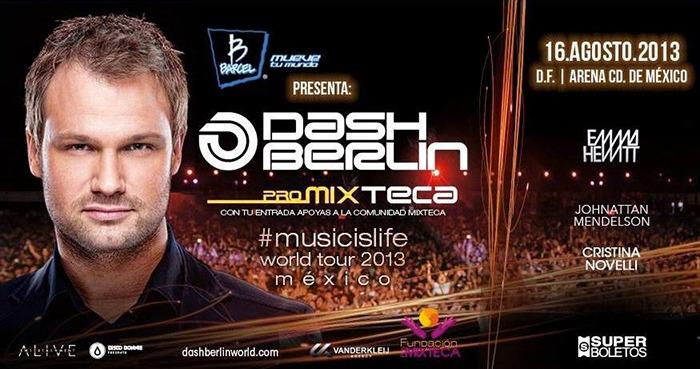 Hoy es Dash Berlin en la arena ciudad de México