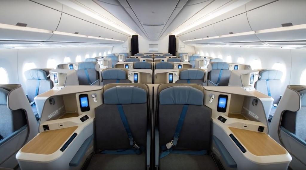 En images air mauritius re oit son premier a350 l 39 a rien for Migliori cabine business class 2017