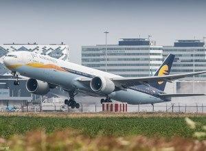 Jet_Airways_777W_leaving_Amsterdam_for_Toronto_(35791089121)