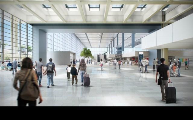 Marseille-Provence_Coeur aeroport _vue departs depuis hall Pouillon