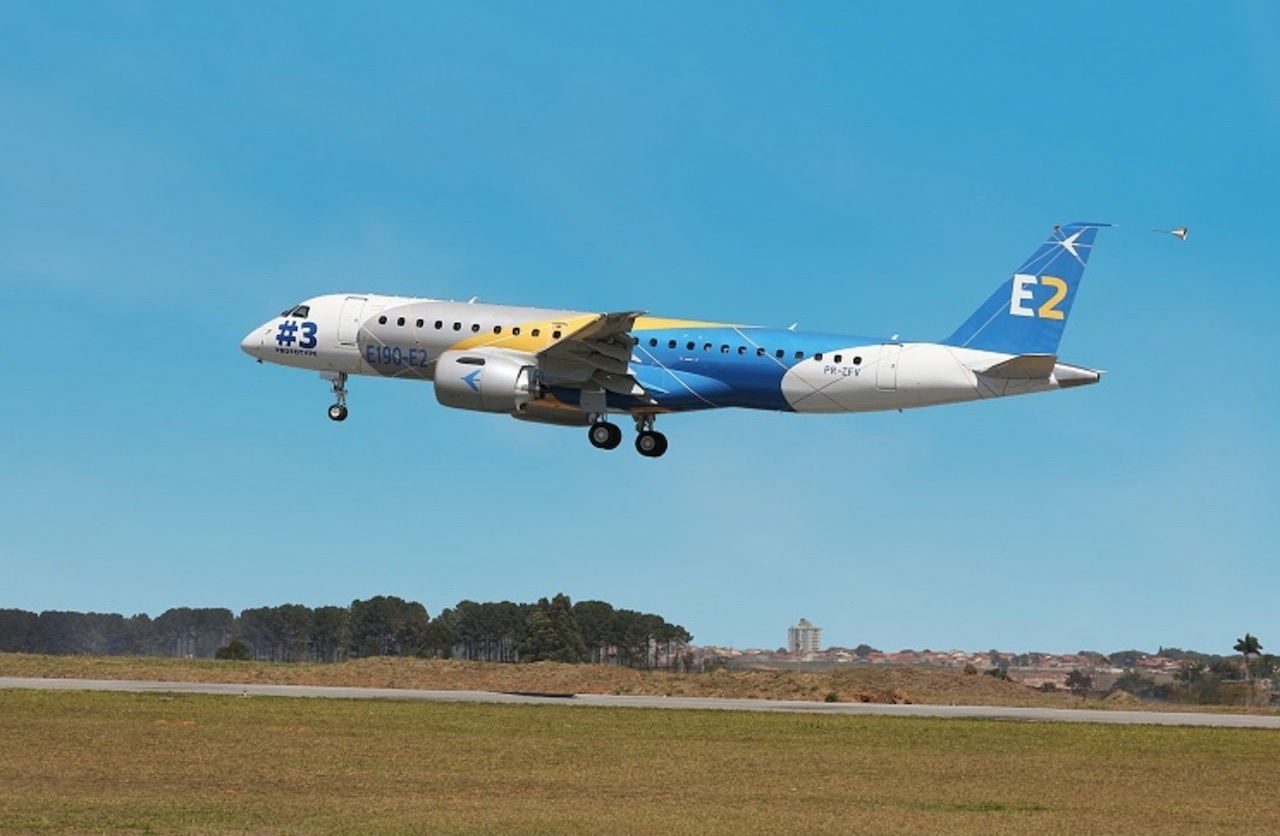 Embraer : l'E190-E2 plus performant que prévu