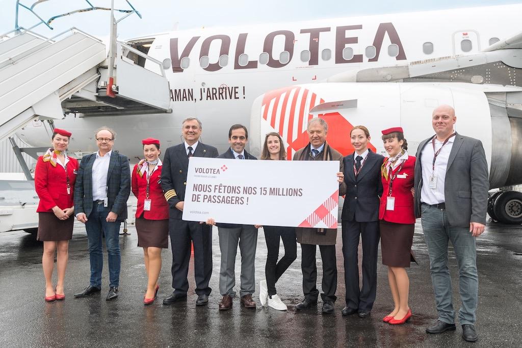 Volotea célèbre à Nantes son 15 millionième passager