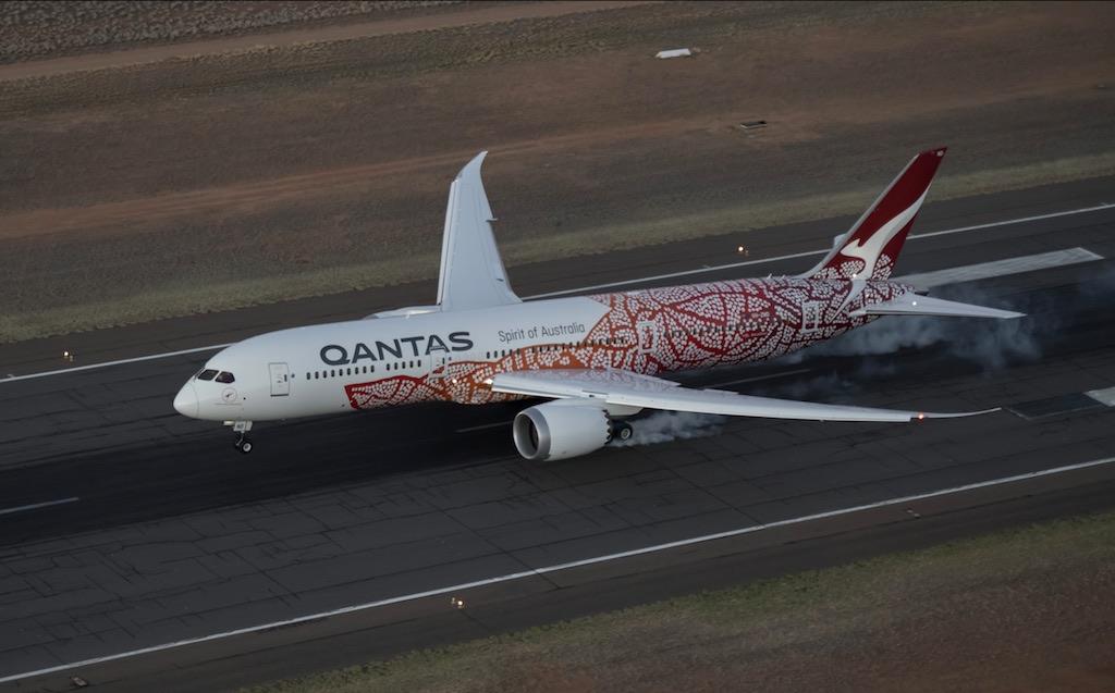 Carte Vol Qantas Australie.Qantas Inaugure Le Premier Vol Direct Entre L Europe Et L