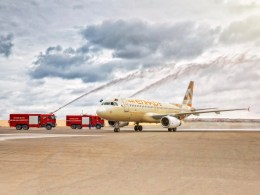 Etihad_Airways_Airbus_A320_vol_inaugural_Bakou