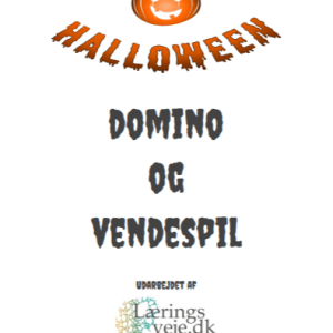 Halloween domino og vendespil
