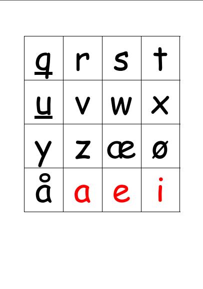 76 bogstavbrikker og 5 idéer til lege og spil med bogstavbrikker
