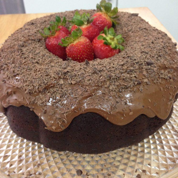 Otra forma de presentar la torta de chocolate