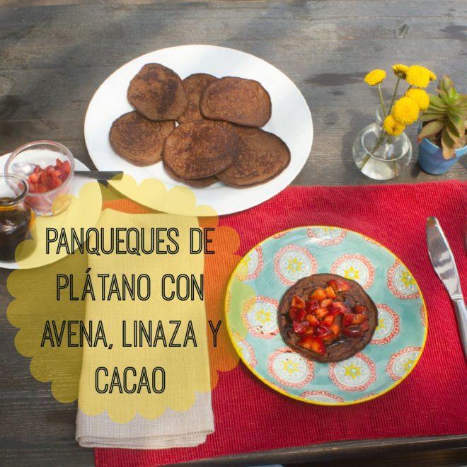 Panqueques de Plátano con avena y harina de linaza