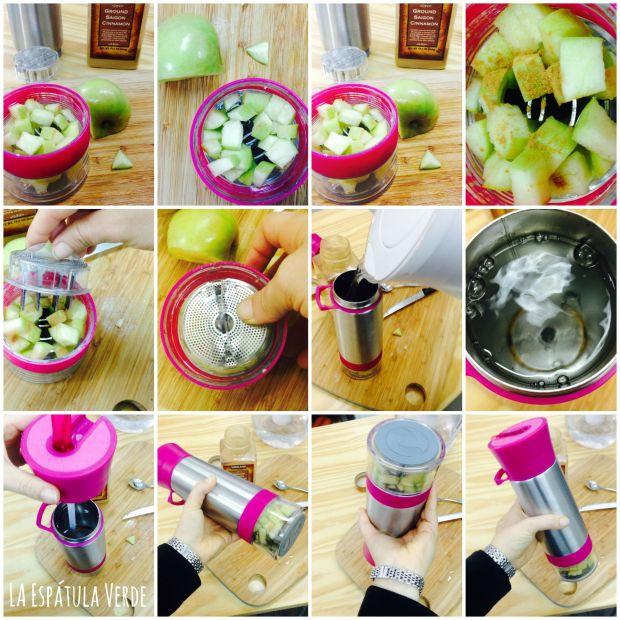 Preparé una combinación deliciosa, manzana y canela! quedó buenaza!