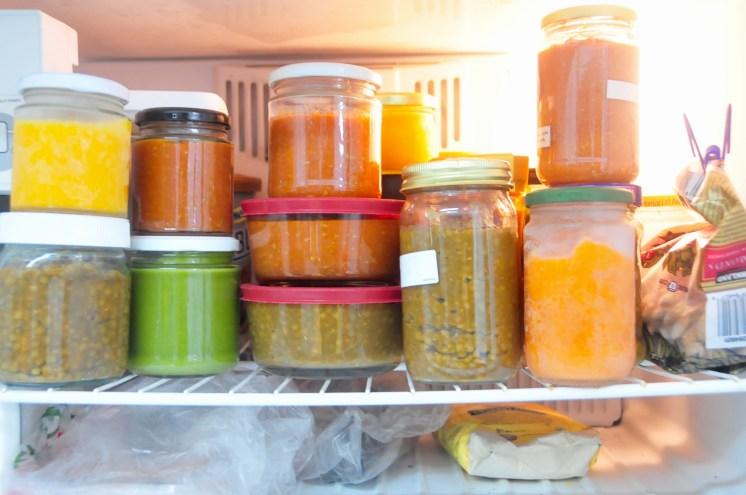 Así se ve mi congelador en una semana ideal! No todo el tiempo se puede y está bien también.